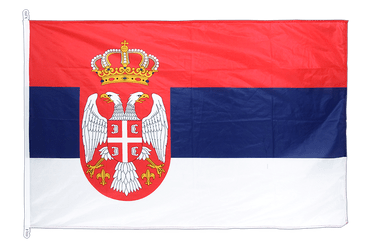 Serbia with crest - Flag PRO 100 x 150 cm