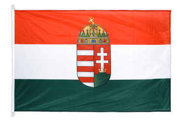 Hungary with crest - Flag PRO 100 x 150 cm
