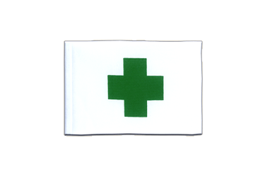 Green Cross Mini Flag 4x6""