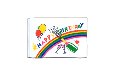 Fanion rectangulaire de Happy Birthday 10 x 15 cm