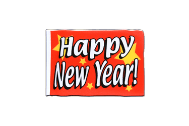 Fanion rectangulaire de Happy New Year 10 x 15 cm
