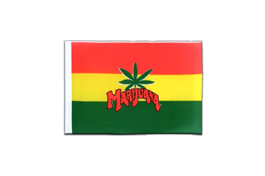 Fanion rectangulaire de Marijuana 10 x 15 cm