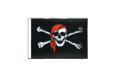 Fanion rectangulaire Pirate avec foulard - 10 x 15 cm