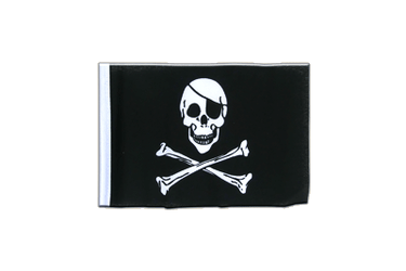 Pirate Skull and Bones Mini Flag 4x6""