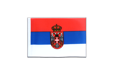 Serbia with crest Mini Flag 4x6""