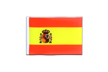 Spain with crest Mini Flag 4x6""