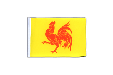Belgium Wallonia Mini Flag 4x6""