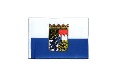 Bavaria Dienstflagge Mini Flag 4x6""