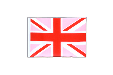 Fanion rectangulaire Union Jack rose 10 x 15 cm