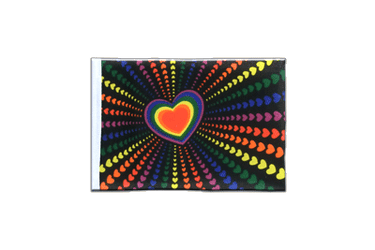 Fanion rectangulaire Arc en Ciel Amour 10 x 15 cm