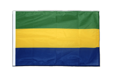 Gabon Sleeved Flag PRO 2x3 ft