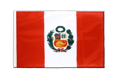 Peru Sleeved Flag PRO 2x3 ft