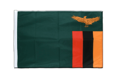 Zambia Sleeved Flag PRO 2x3 ft
