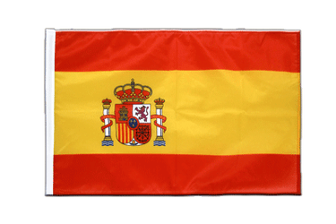Spain with crest Sleeved Flag PRO 2x3 ft