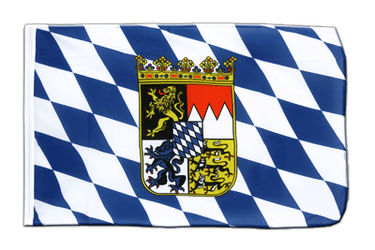 Bavaria with crest - Sleeved Flag ECO 2x3 ft