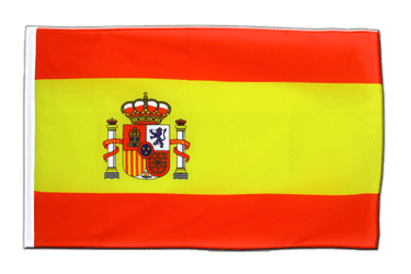 Spain with crest Sleeved Flag ECO 2x3 ft
