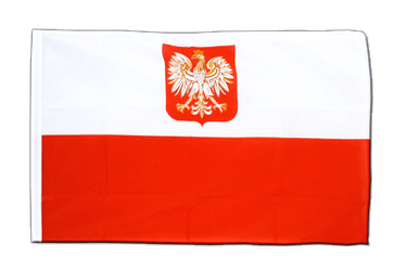 Poland with eagle Sleeved Flag ECO 2x3 ft