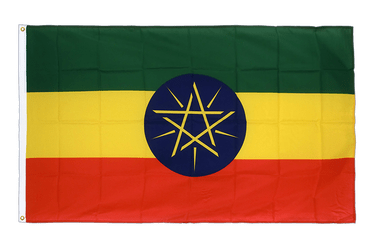 Ethiopia with star Premium Flag 3x5 ft CV