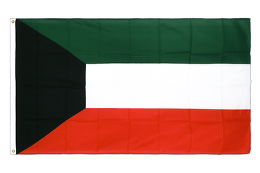 Kuwait Premium Flag 3x5 ft CV