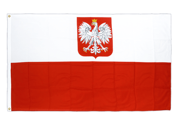 Poland with eagle Premium Flag 3x5 ft CV