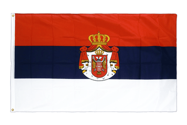 Serbia with crest Premium Flag 3x5 ft CV