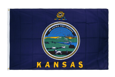 Kansas Premium Flag 3x5 ft CV