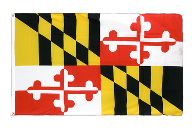 Maryland Premium Flag 3x5 ft CV