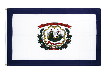 Virgine-Occidentale (West Virginia) Drapeau 90 x 150 cm CV