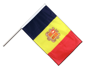 Andorra Hand Waving Flag PRO 2x3 ft
