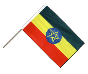 Ethiopia with star Hand Waving Flag PRO 2x3 ft
