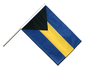 Bahamas - Hand Waving Flag PRO 2x3 ft