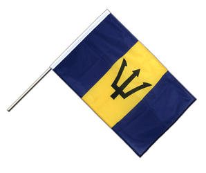 Barbados Hand Waving Flag PRO 2x3 ft