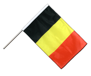 Belgium Hand Waving Flag PRO 2x3 ft
