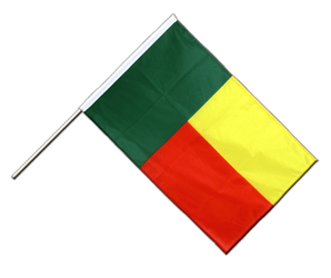 Benin Hand Waving Flag PRO 2x3 ft