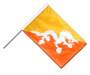 Bhutan Hand Waving Flag PRO 2x3 ft