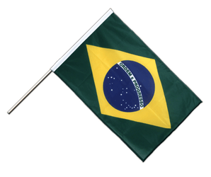 Brazil Hand Waving Flag PRO 2x3 ft
