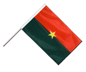Burkina Faso Hand Waving Flag PRO 2x3 ft