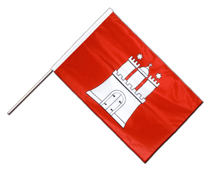 Hamburg Hand Waving Flag PRO 2x3 ft