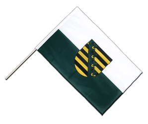 Saxony Hand Waving Flag PRO 2x3 ft