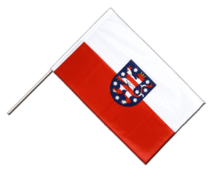 Thuringia Hand Waving Flag PRO 2x3 ft