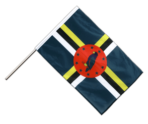 Dominica Hand Waving Flag PRO 2x3 ft