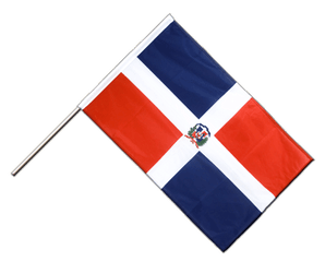 Dominican Republic Hand Waving Flag PRO 2x3 ft