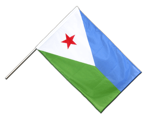Djibouti - Hand Waving Flag PRO 2x3 ft