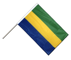 Gabon Hand Waving Flag PRO 2x3 ft