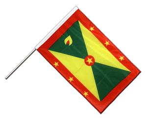 Grenada Hand Waving Flag PRO 2x3 ft