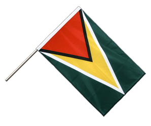 Guyana - Hand Waving Flag PRO 2x3 ft