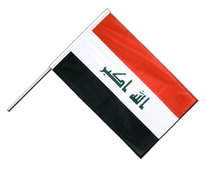 Iraq 2009 Hand Waving Flag PRO 2x3 ft