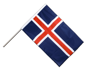 Iceland - Hand Waving Flag PRO 2x3 ft