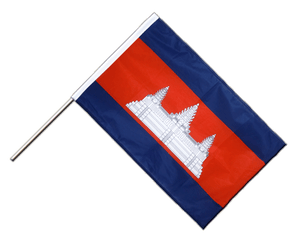 Cambodia Hand Waving Flag PRO 2x3 ft