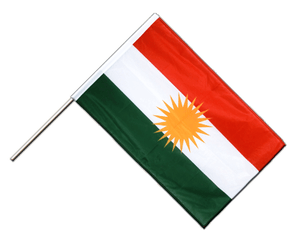 Kurdistan Hand Waving Flag PRO 2x3 ft